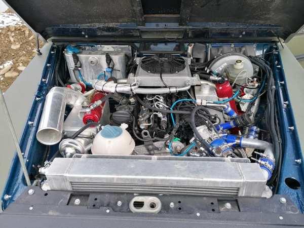 Mercedes G-Class W460 built by Hojnor Serwis 4X4 with a turbo BMW N57 diesel inline-six