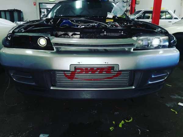 Nissan R32 Skyline built by Luke Polzin with a 2JZ-GTE inline-six