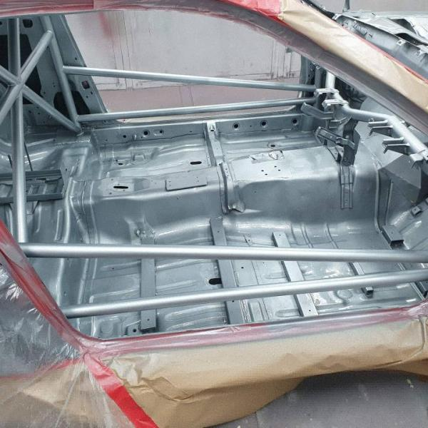 roll cage on James Pinch's Nissan S15