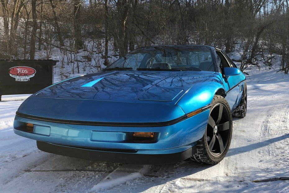 1988 Pontiac Fiero built by Schwa Motorsports with a turbocharged VR6