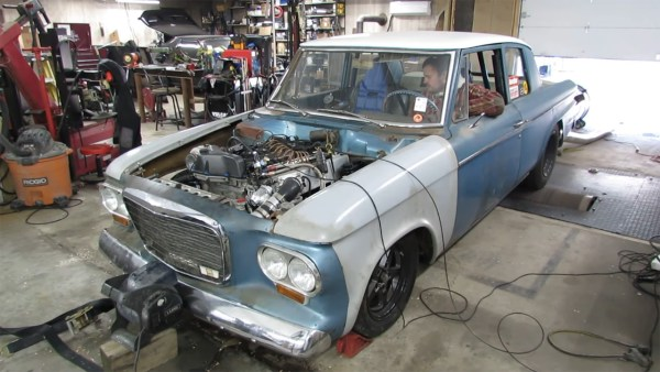 1962 Studebaker Lark built by Calvin Nelson with a turbo Vortec 4200 inline-six