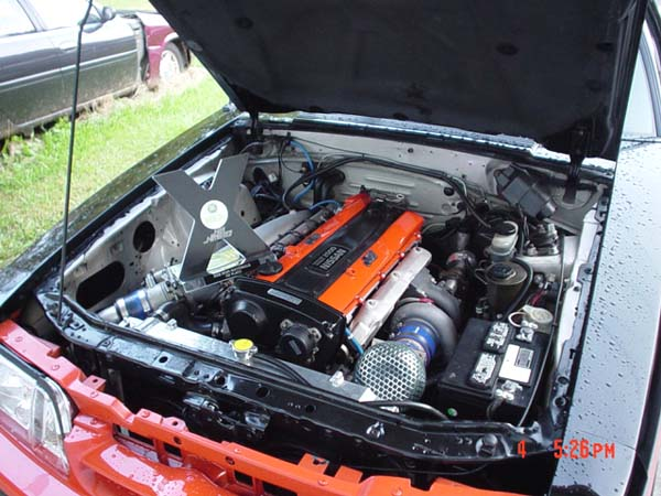 1993 Mustang built by JGY Customs with a turbo RB25 inline-six