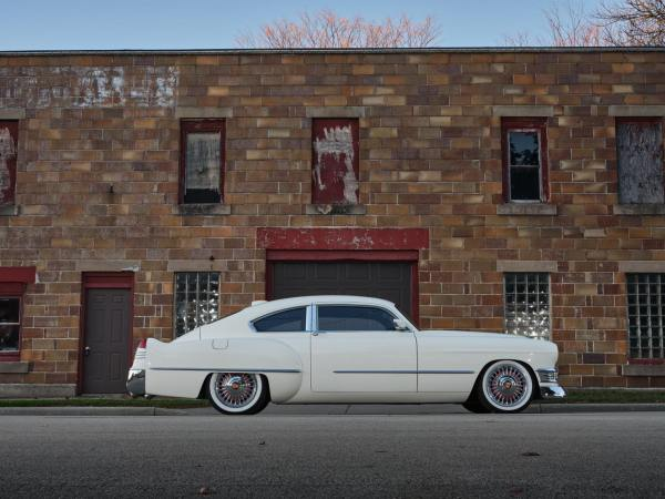 Custom 1948 Cadillac with an ATS-V chassis and twin-turbo V6 powertain