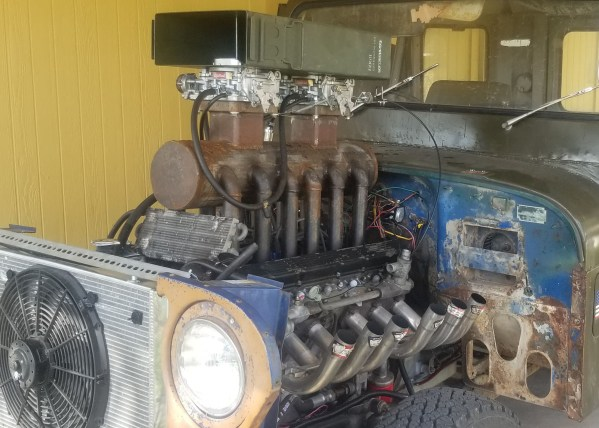 Mail Jeep with a 7.0 L Jaguar V12