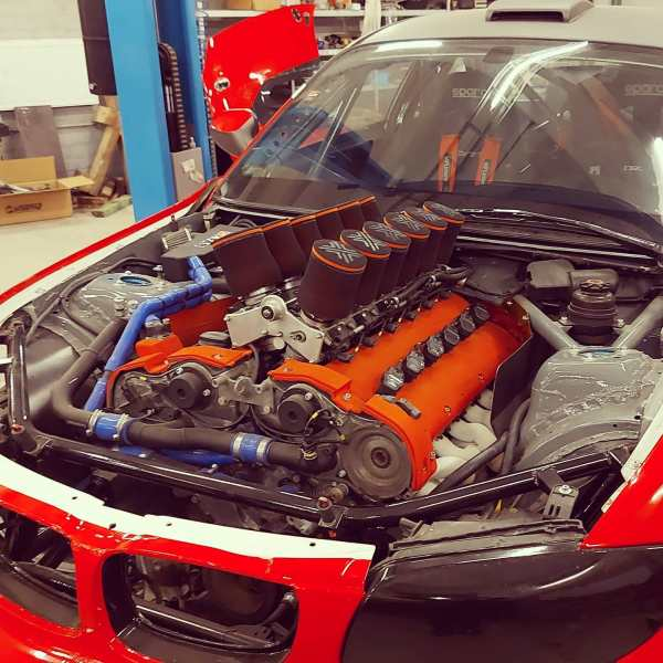 BMW E82 built by DK FAB with a Mercedes M120 V12