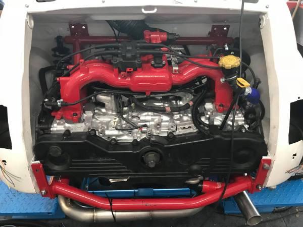 Fiat 500 built by Z Cars with a Subaru 2.5 L EJ253 flat-four